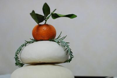 Mochi and orange