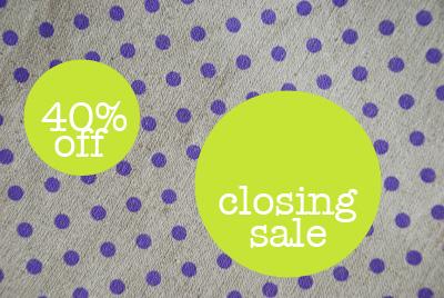 Closing-sale